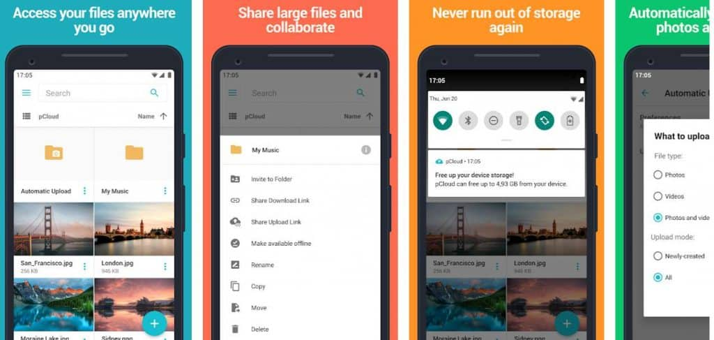 free cloud storage android